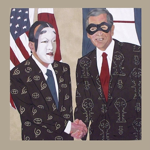 "B+C, 57 x 54"", Acrylic on Canvas, 2008"