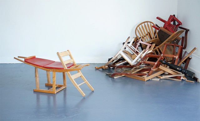 Feral: Rewilding Furniture (installation view with Crustacean)