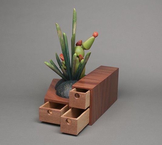 Ikebana Tansu (drawers opened)