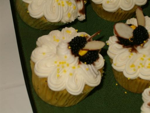 "Cupcakes for friends ""wedding"" - Lemon poppyseed with cream cheese frosting - yuummm"