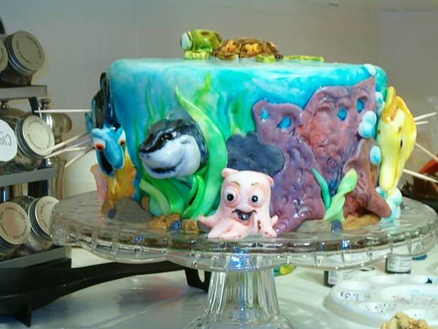 "Disney's ""Finding Nemo"" cake- ""you made me ink!"""