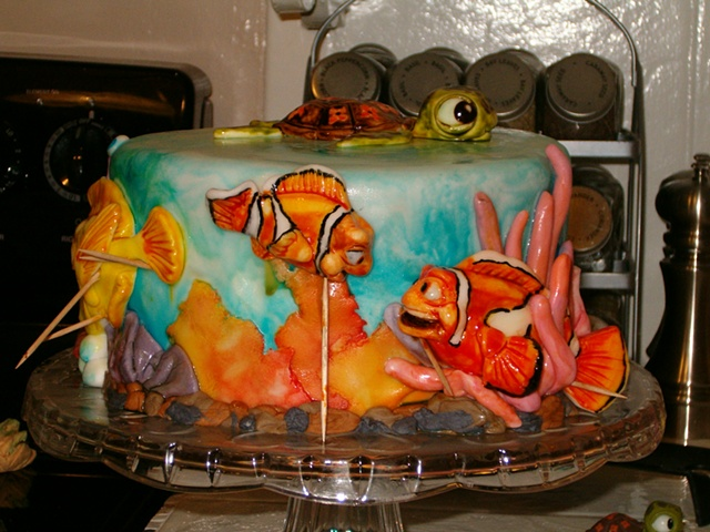 "Disney's ""Finding Nemo"" cake - Nemo and his Father"