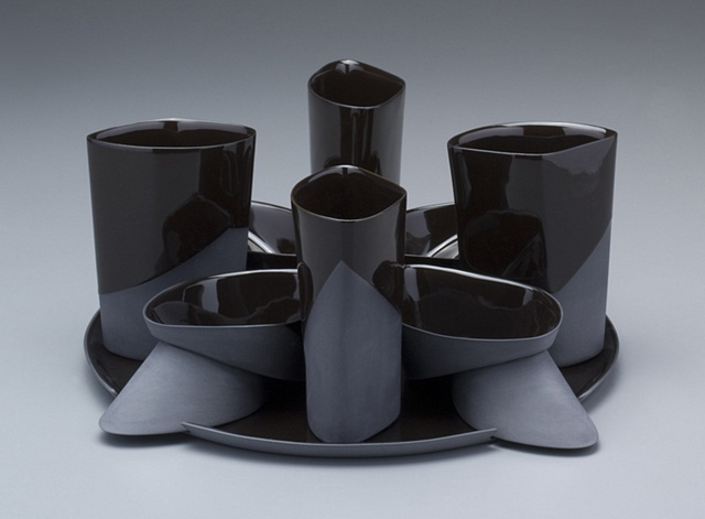Platter with Tumblers & Double Volume Bowls