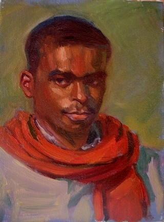 small oil portrait