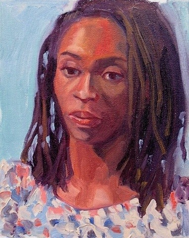 portrait in oils