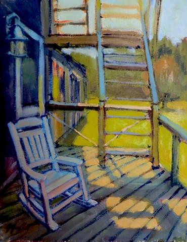 Monhegan House Back Porch