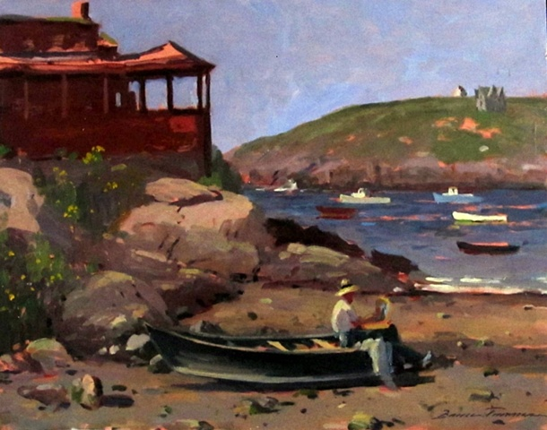 """Monhegan Morning Painter"""