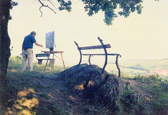 Painting in Alsace, France