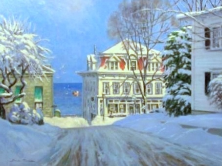 """Sunny Winter Morning - Rockport"""