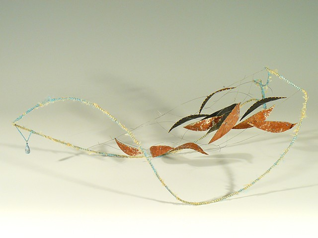 kinetic sculpture steel silk color