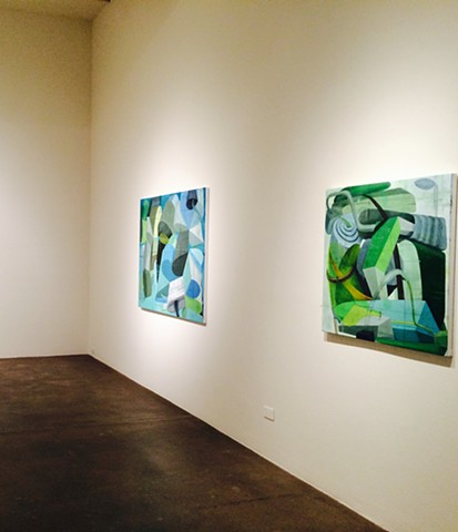 "Installation view  of ""Four in the morning"" Robischon Gallery   May"