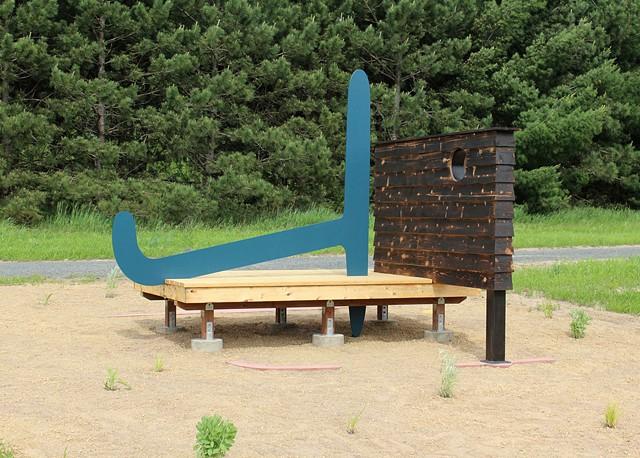 ian jones sculptor sculpture art drawing land survey marker