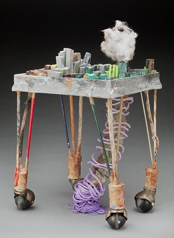 Sculpture, environmental, found object, appropriation, craft, skill, painting, three-dimensional, creative