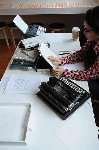 In PRESENT I read, typed immediate thoughts and gave away writings to viewers
