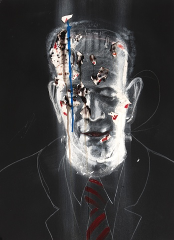 Frankenstein monster portrait by Steve Veatch