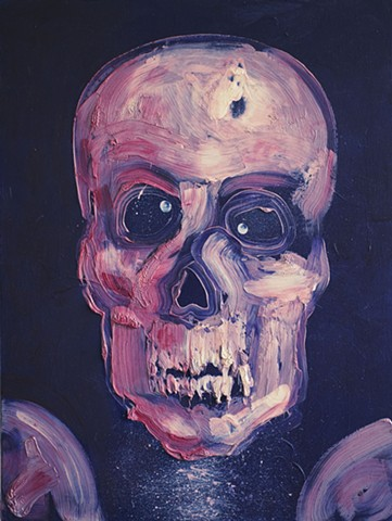 death skull mortal mortality humor by Steve Veatch