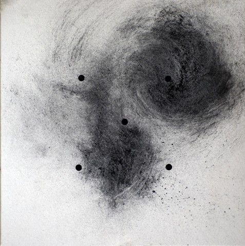 cosmic dots charcoal swirl by Steve Veatch