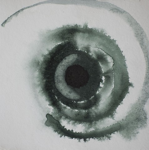 Green Eye eyes eyeball spiral by Steve Veatch
