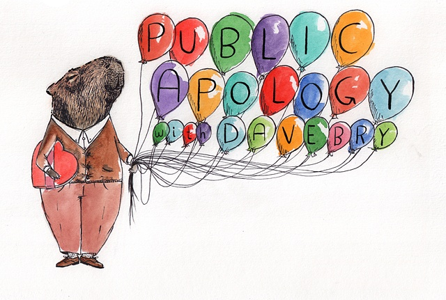 Public Apology featuring a capybara.