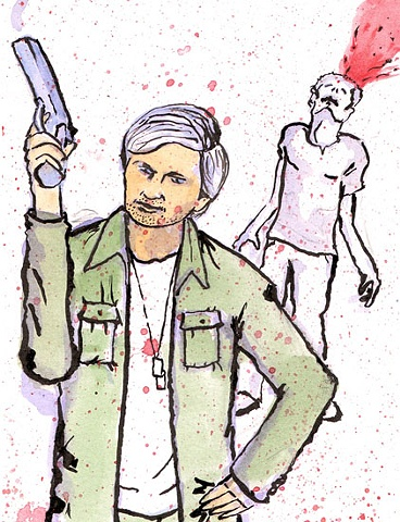 Captain Hawkeye Pierce - Zombie Fighting Dream Team