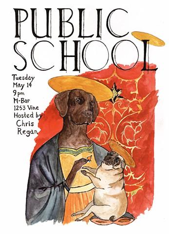 Public School flyer.