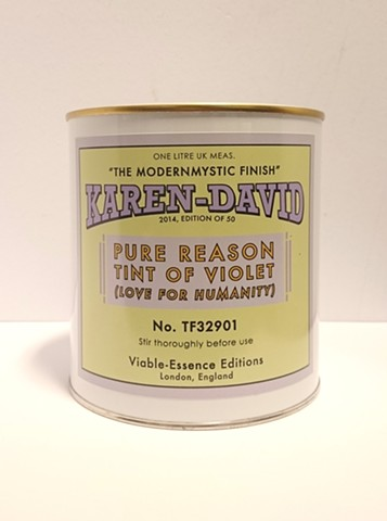 Pure Reason Tint of Violet (Love for Humanity) TF32901 2014 1 litre of wall paint with carborundum (artificial stardust), rose quartz stone and fine iridescent stainless steel Edition of 50, £50 (+VAT)