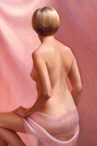 Figure With Pink Background