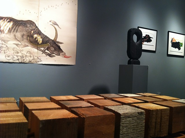 Installation view, Reisen, Gibbens and Picken