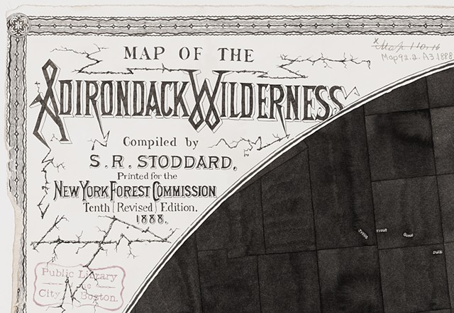 Map of the Adirondack Wilderness, 1888, detail