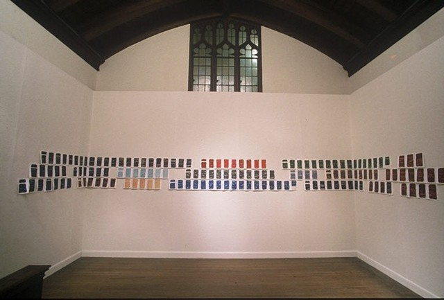 Installation view at the Boston Sculptor's Chapel Gallery in West Newton, MA