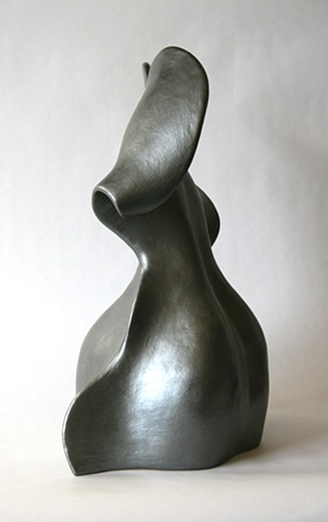 siren, clay, paper clay, fired, sculpture,