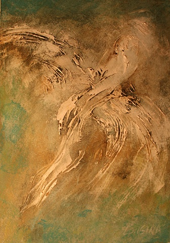 acrylic, art, painting, abstract, angels