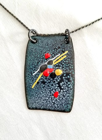 Large Abstract Pendant