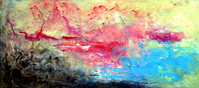 acrylic, panel, fine art, original painting,  abstract