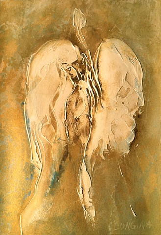 acrylic, fine art, original painting, abstract, angels