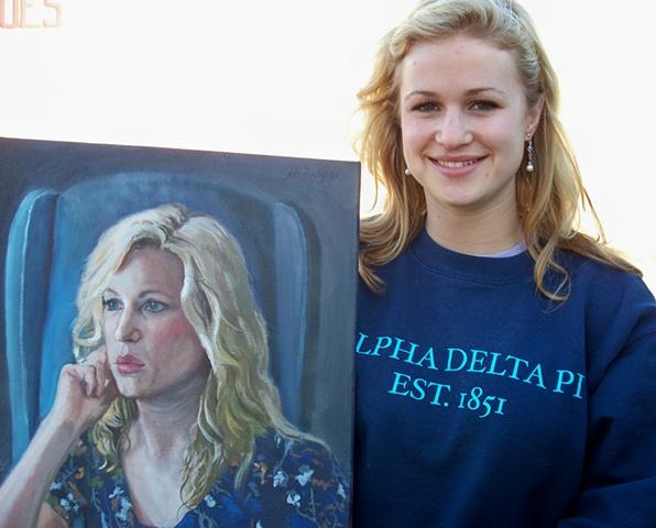 Caty loves her portrait!