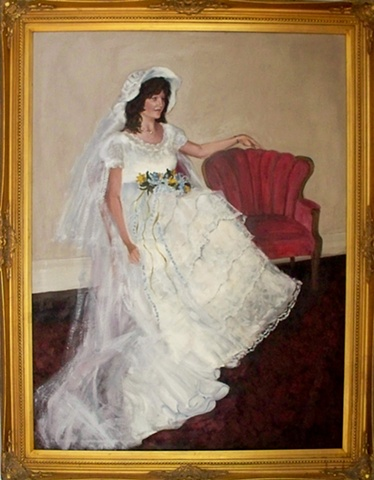 Look at what we can do with a simple wedding photo from years gone by!