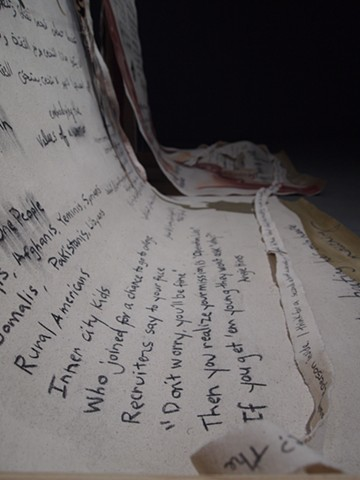 Detail of veteran writing