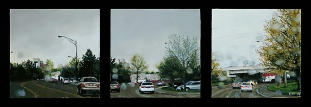 shoreline drive boise oil painting