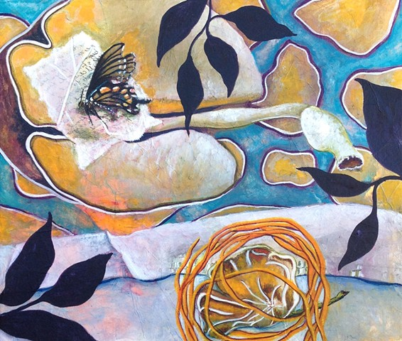 butterfly, fabric, sillouettes