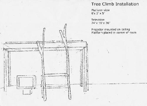 Installation Sketch, Tree Climb