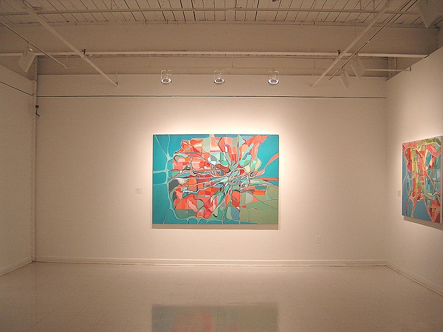 "Installation photo: ""Nesting,"" Fox Gallery MICA"