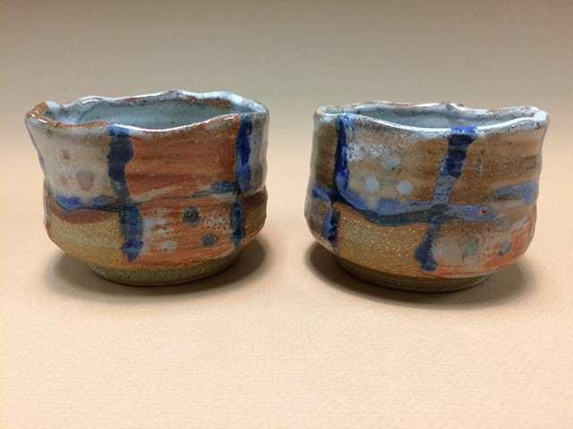 Wheel Thrown Shino Chawan Tea Bowls