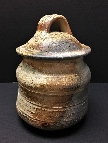 Water Jar, Charcoal Injection fired to cone 6 in reduction