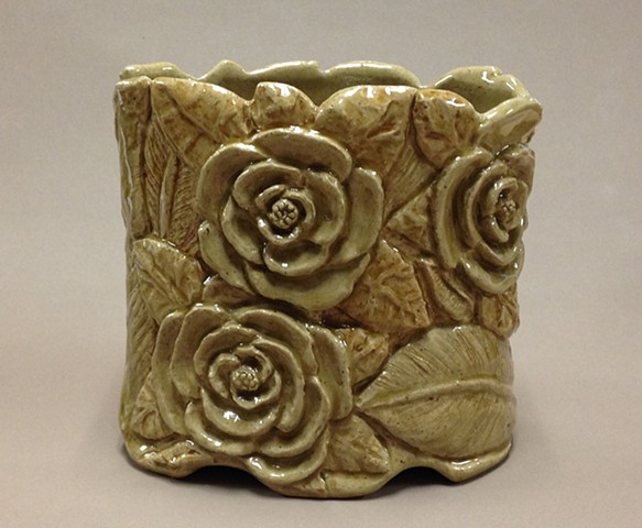 hand carved stoneware