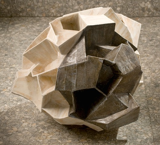 ceramic sculpture/abstract/geometric