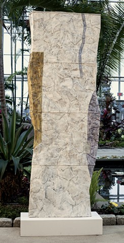 glazed ceramic column at botanical center