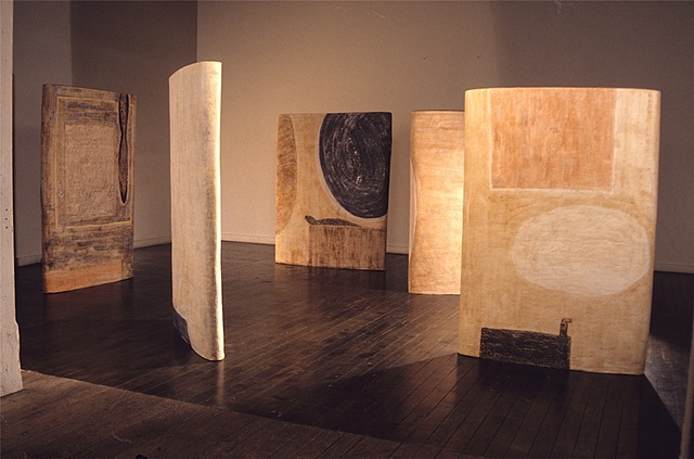 Installation view of Painted Shapes