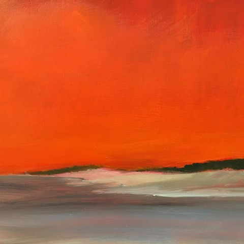 Dunes with Red Sky