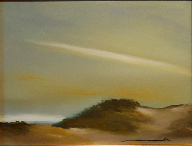 dune shadow oil on panel 9x12